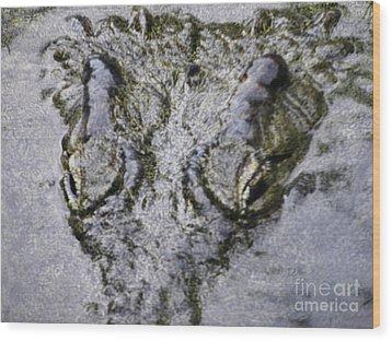 Wood Print featuring the photograph Hungry Crocodile by Alexandra Jordankova
