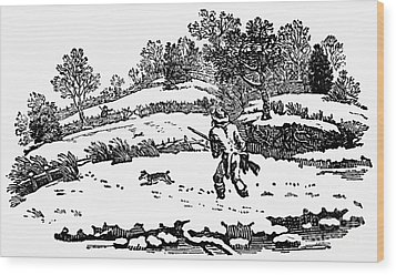 Hunting: Winter, C1800 Wood Print by Granger