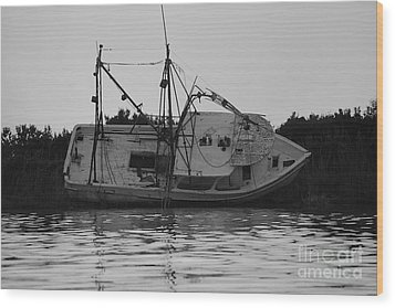 Wood Print featuring the photograph Hurricane Boat by Luana K Perez