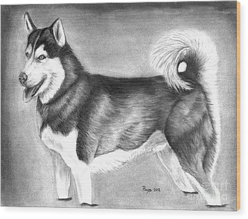 Husky  Wood Print by Russ  Smith