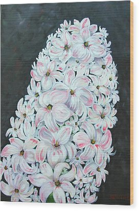 Wood Print featuring the painting Hyacinth by Mary Kay Holladay