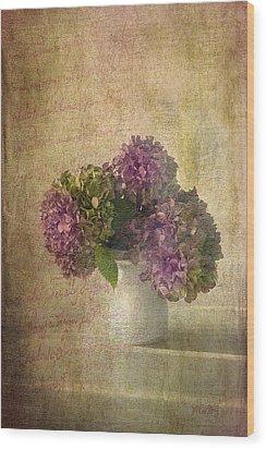 Hydrangea Blossoms Wood Print by Michael Petrizzo