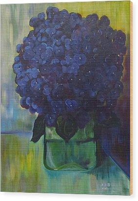 Hydrangeas Wood Print by Dani Altieri Marinucci