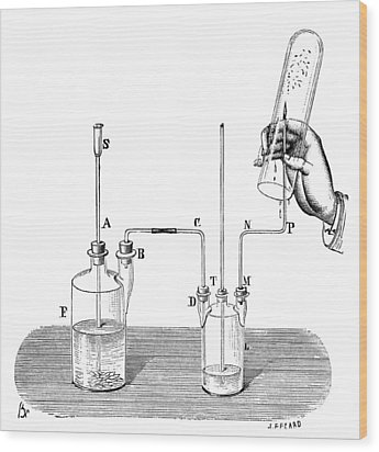 Hydrogen Combustion, 19th Century Wood Print by