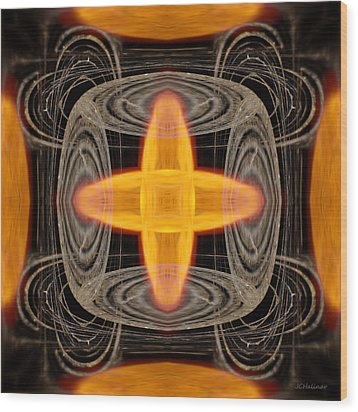 Hydrogen Fusion Wood Print by Joe Halinar