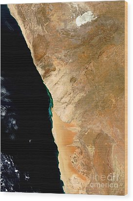 Hydrogen Sulfide Eruption Off Namibia Wood Print by Nasa