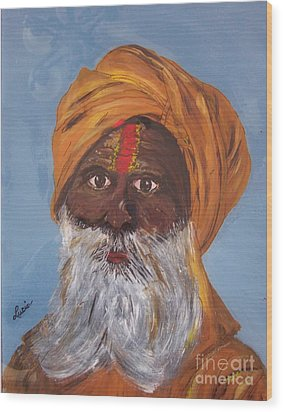 I Am A Sikh Wood Print by Lucia Grilletto