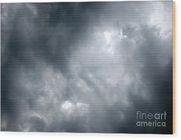 I Am No Storm Chaser Cloud Wood Print by Andee Design