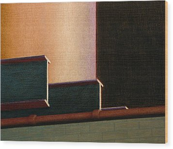 I-beam Wood Print by Norm Holmberg