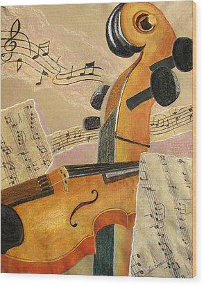 I Can Hear Music Wood Print