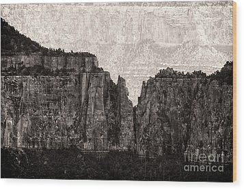 I Have Climbed  A Mountain Wood Print by Venura Herath