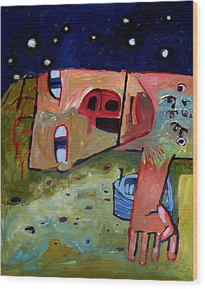 I Laid With My Boat All Night Long Til We Were Both Ready To Go To Sea Wood Print by Charlie Spear