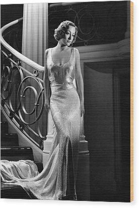 I Live My Life, Joan Crawford Wearing Wood Print by Everett