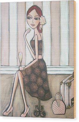 I Love Paris Wood Print by Denise Daffara
