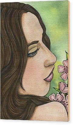 I Remember Wood Print by Nora Blansett