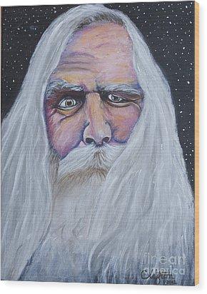 I See Thy Eye Wood Print by Sandy Clifton