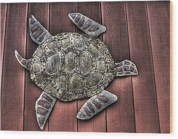 I Swim On The Barn Wall Wood Print by William Fields