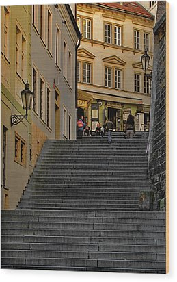I Walked The Streets Of Prague Wood Print by Christine Till
