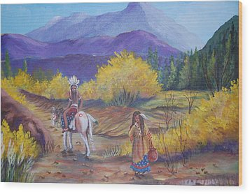 I Want To Go Home Wood Print by Janna Columbus