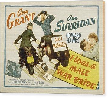 I Was A Male War Bride, Cary Grant, Ann Wood Print by Everett