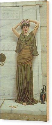 Ianthe Wood Print by John William Godward