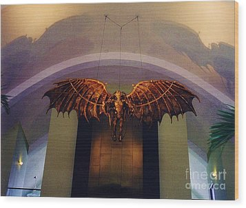 Icarus In The Louis Armstrong International Airport In New Orleans Wood Print by John Malone