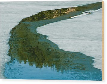 Ice Borders Wood Print by Colleen Coccia