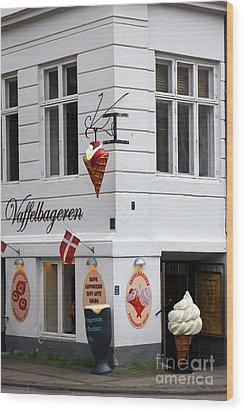 Ice Cream Shop Wood Print by Sophie Vigneault