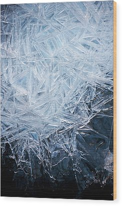 Ice Crystal Patterns Wood Print by Skye Hohmann
