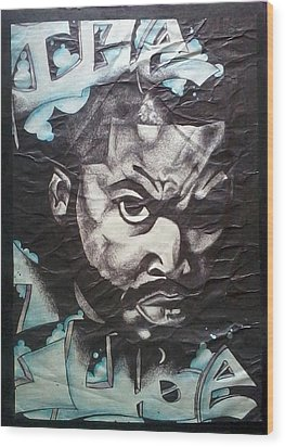 Ice Cube Wood Print by Abby Williams