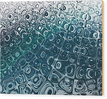 Ice Cubes Wood Print by Pam Blackstone