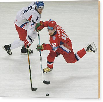 Ice Hockey Wood Print by Ria Novosti