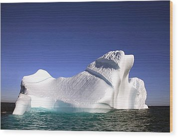 Iceberg In The Canadian Arctic Wood Print by Richard Wear