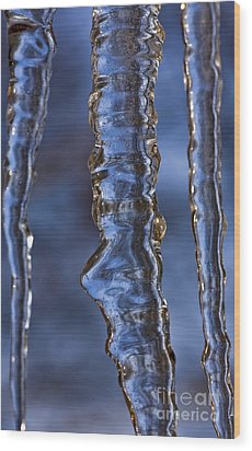 Icicles Wood Print by Heiko Koehrer-Wagner