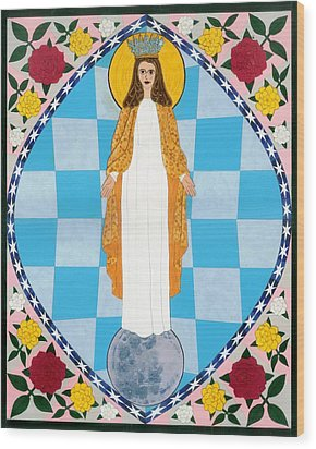 Icon Of The Immaculate Conception Wood Print by David Raber