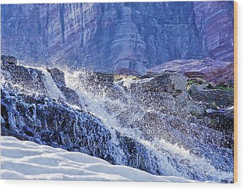 Wood Print featuring the photograph Icy Cascade by Albert Seger