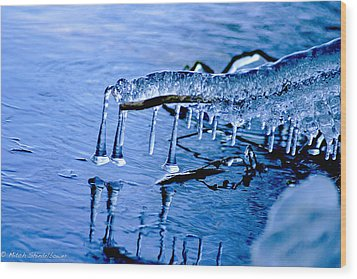 Wood Print featuring the photograph Icy Reflections by Mitch Shindelbower