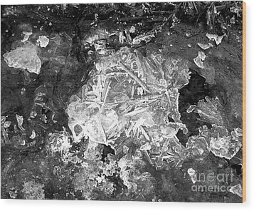 Wood Print featuring the photograph Icy Road by Chalet Roome-Rigdon