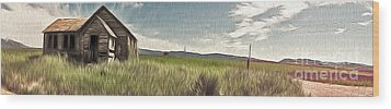 Idaho Panorama Wood Print by Gregory Dyer