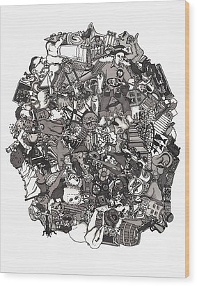 Idiomatic 160 Plus Wood Print by Tyler Auman