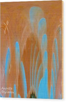 Idol Of Pomos Abstract Wood Print by Augusta Stylianou