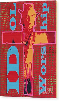 Idol Worship Wood Print by Ricky Sencion