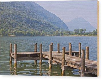 idyllic tarn in Italy Wood Print by Joana Kruse