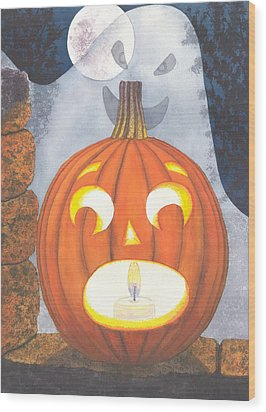 If I Had Legs I'd Be Running Wood Print by Catherine G McElroy