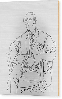 Igor Stravinsky, Russian Composer Wood Print by Omikron