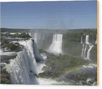 Wood Print featuring the photograph Iguazu Falls by David Gleeson