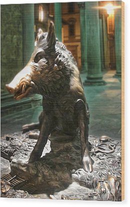 Il Porcellino - Florence Italy Boar Statue Wood Print
