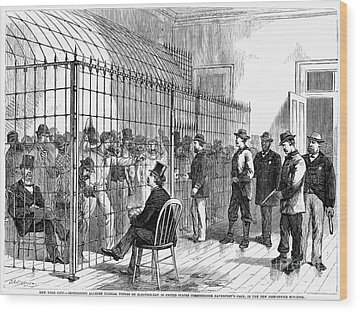 Illegal Voters, 1876 Wood Print by Granger