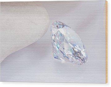 Illuminate Diamond Wood Print by Atiketta Sangasaeng