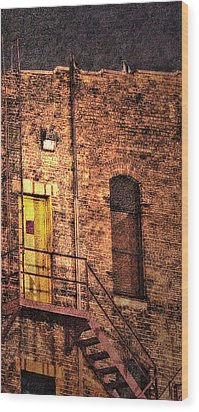 Illuminating Darkness And What's Underneath Wood Print by Janie Johnson